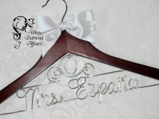 Personalised Wedding Gifts Disney : ... Personalized Bridal Hanger, Disney Wedding, Gift Wire #2378388