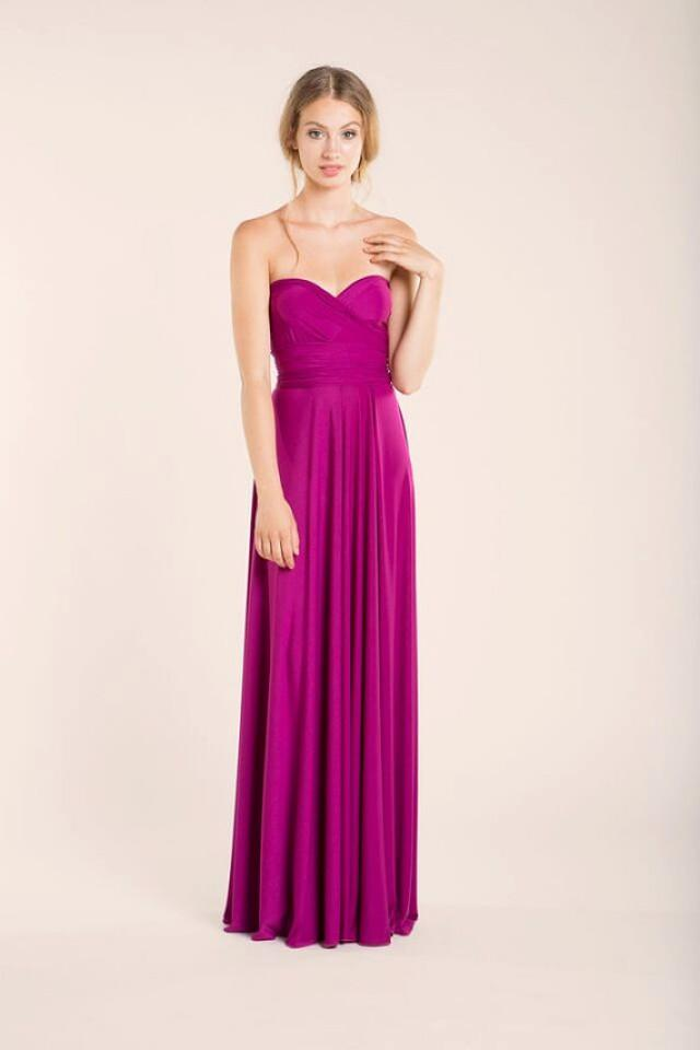 Orchid Long Infinity Dress, Orchid Bridesmaid, Pink Gown ...