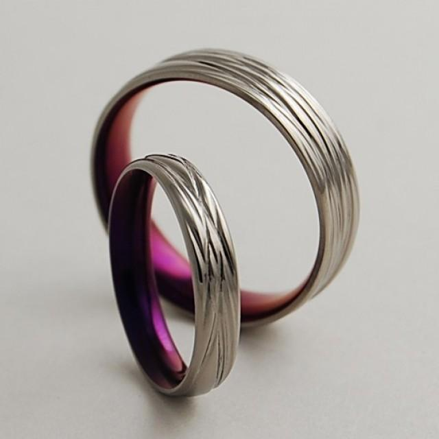 titanium wedding bands the sphinx in mystic purple with