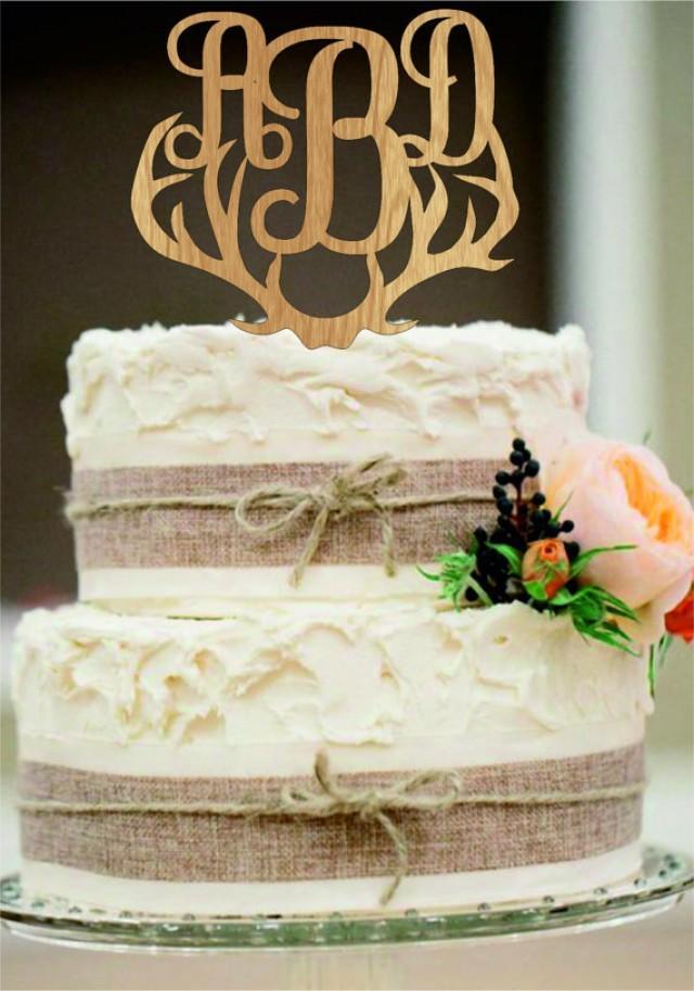Cake Decor Rustic : Wedding Cake Topper, Rustic Wedding Decor, Couple Monogram ...