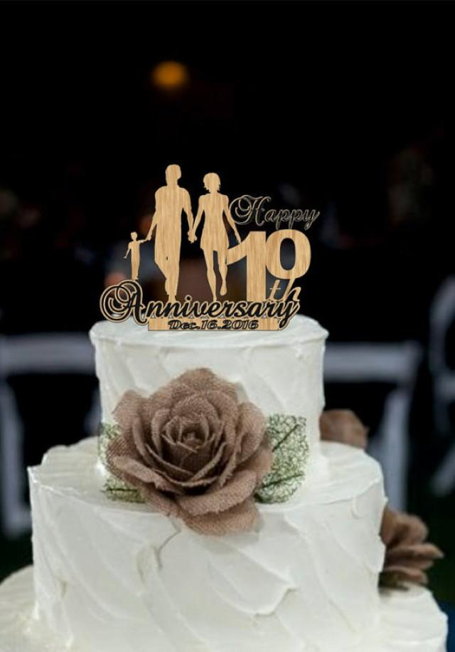 wedding photo - 10 th Anniversary Cake Topper Personalized - Rustic Wedding Cake Topper, 10 th Years Loved Anniversary Cake Topper