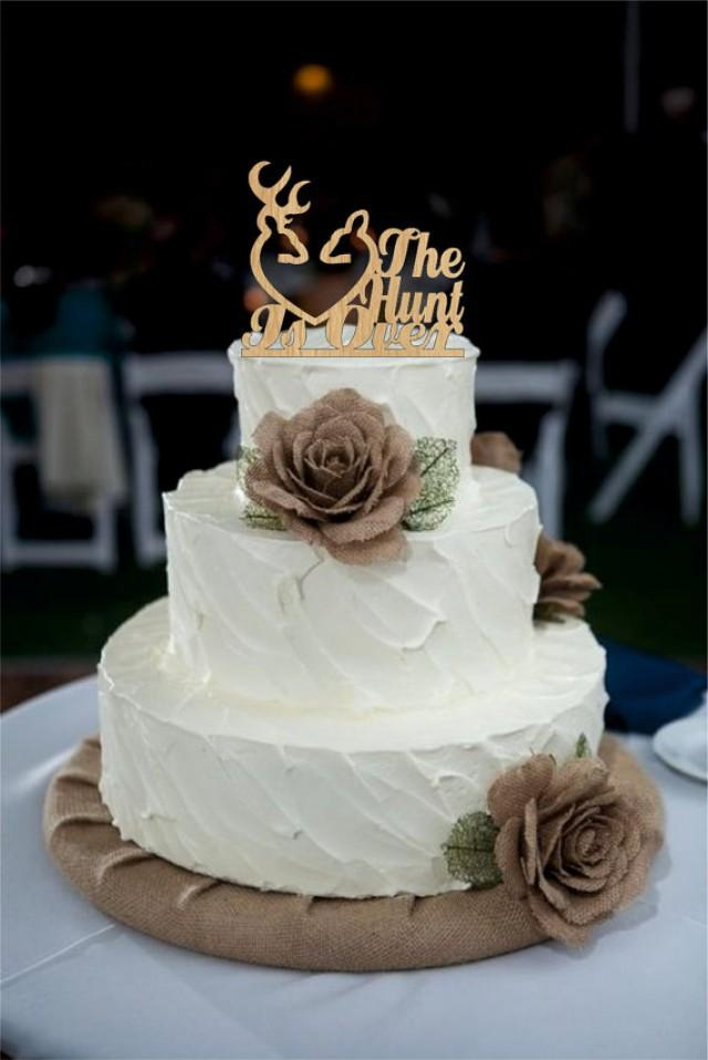wedding photo - Wedding cake topper rustic the hunt is over, deer wedding cake topper, Country Cake Topper, shabby chic, redneck, cowboy, outdoor, western
