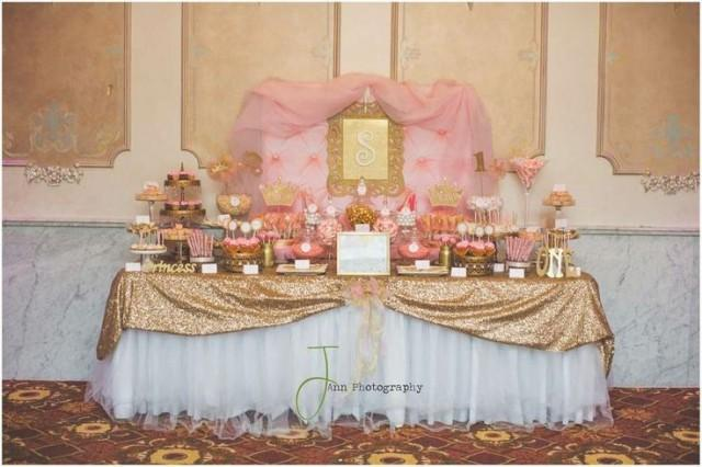 Pink And Gold Princess By Treat Me Sweet Candy Buffets