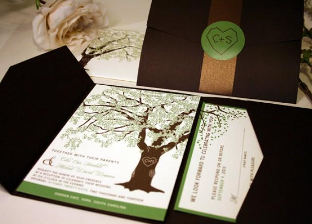 Grandfather Oak Tree Wedding Invitations, Rustic Wedding ...