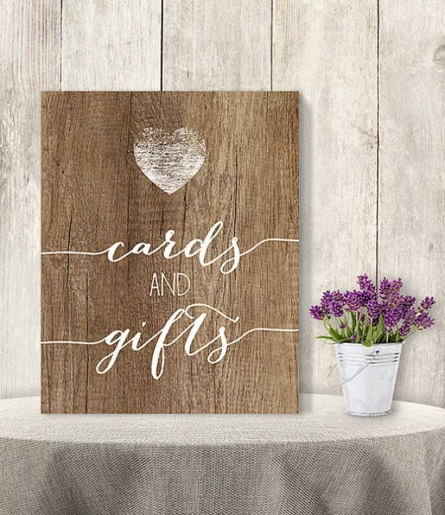 Cards and gifts wedding gift table sign diy presents