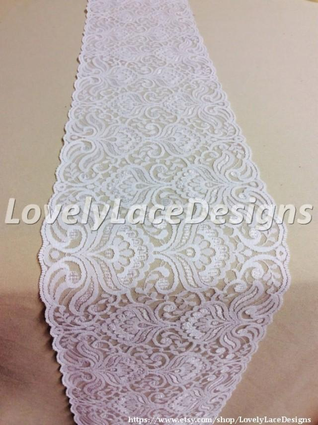 Wedding lace table runner 5ft 10ft x 7in wide rustic for 10 foot table runner