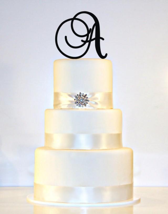 5 u0026quot  monogram wedding cake topper in any letter