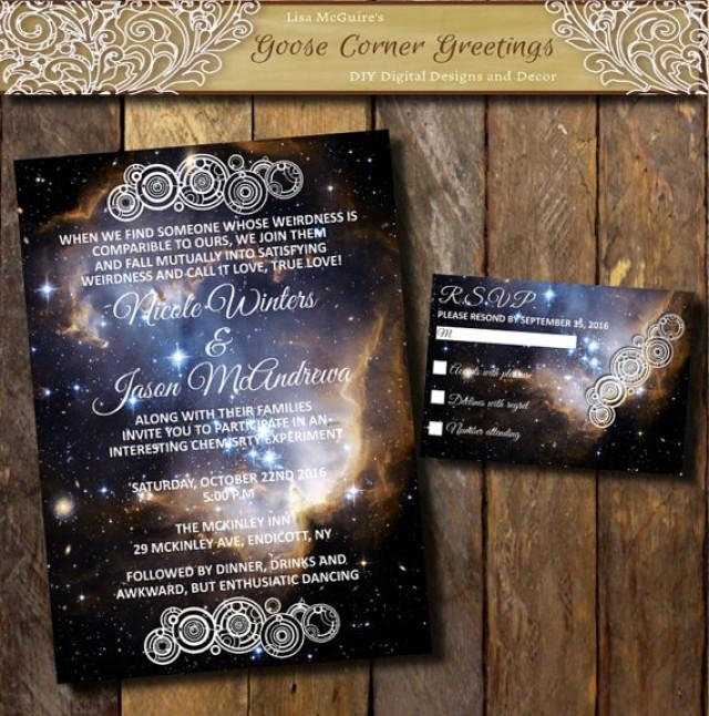 When Do You Send Out Wedding Invitations: Printable Nebula Galaxy Wedding Invitation Suite, Space