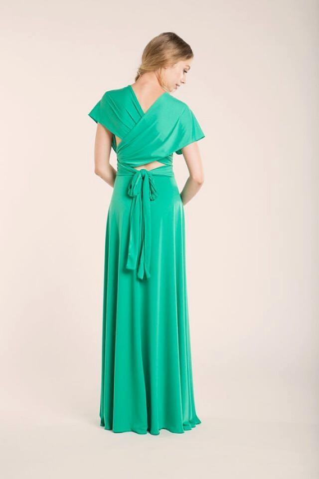 Spring green infinity dress green long infinity dress for Light green wedding dress