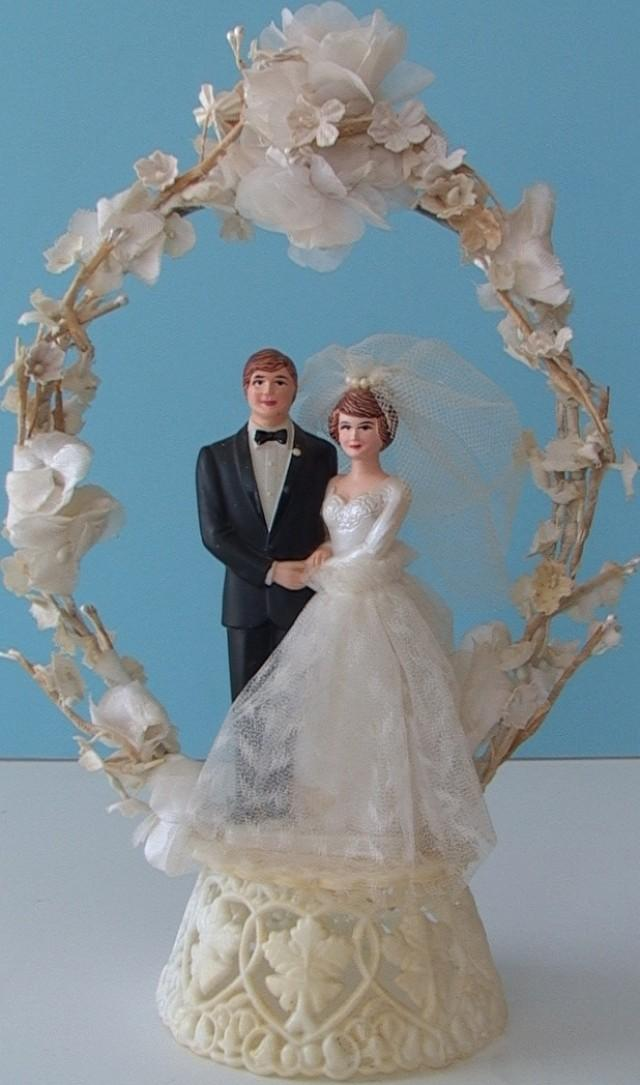 Vintage 1970s COAST NOVELTY Wedding Cake Topper A  2387344   Weddbook. Novelty Wedding Cake Toppers. Home Design Ideas