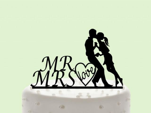 wedding photo - Young Bride and Groom, Pure love, Empyrean love, Romantic filings, Wedding Cake Topper, Cake Decor, Silhouette Bride and Groom,