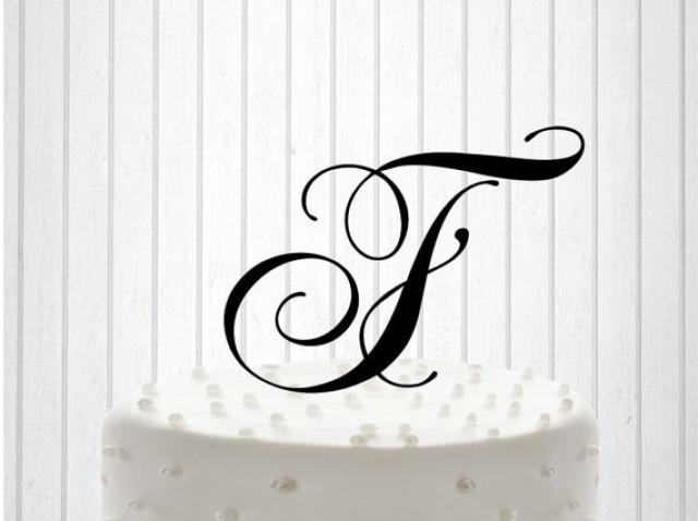 wedding photo - Monogram cake topper Wedding Cake Topper Cake Decor Custom Wedding Cake Topper Personalized with YOUR New Name