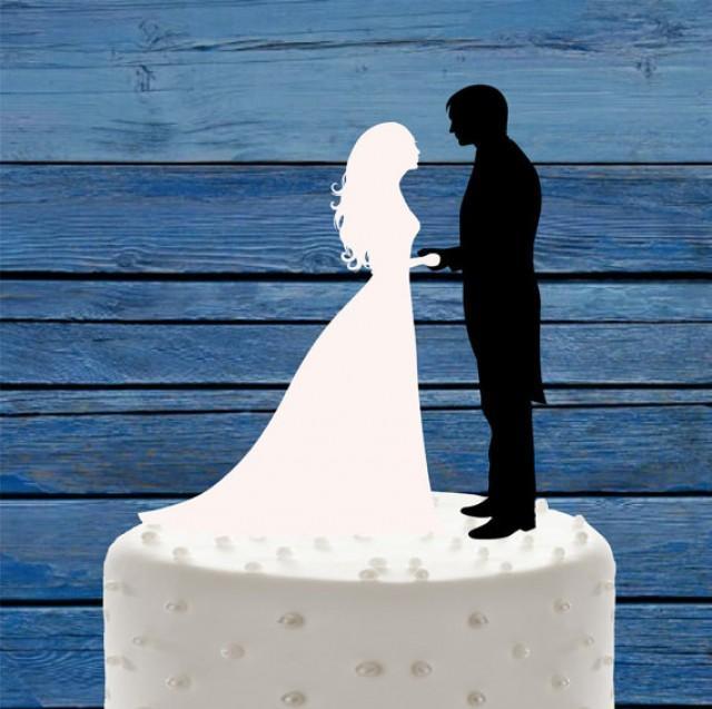 wedding photo - Wedding cake topper Black and White, Mr&Mrs Wedding Cake Topper, Bride and Groom Cake Decor, Custom Wedding Cake, Acrylic cake Topper