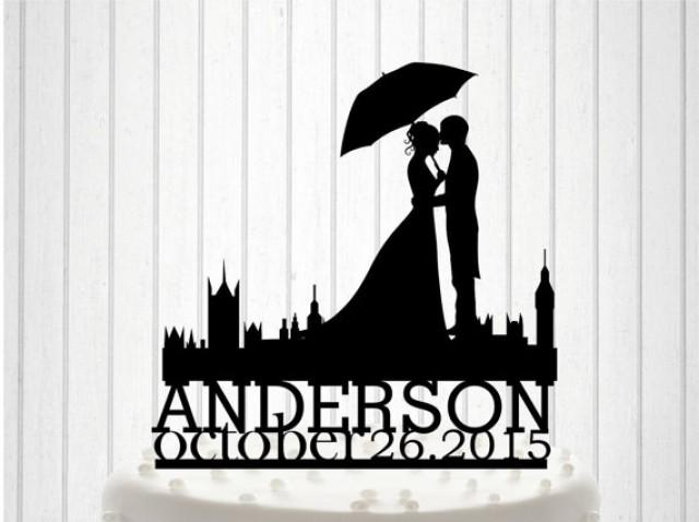wedding photo - English Wedding, Mr&Mrs Wedding Cake Topper, Bride and Groom Cake Decor, Custom Wedding Cake, Acrylic cake Topper, Couple names Topper