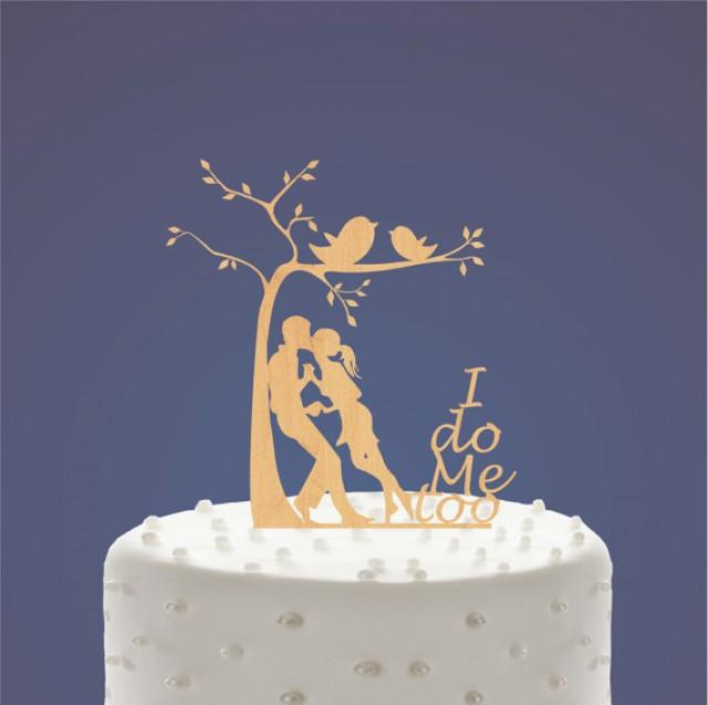 wedding photo - Wood Silhouette Bride and Groom, Yong Bride and Groom, Pure love, Empyrean love, Romantic filings, Wedding Cake Topper, Cake Decor