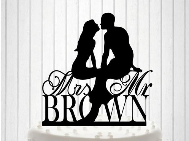 wedding photo - Personalized with YOUR New Name Wedding Cake Topper, Cake Decor, Custom Wedding Cake Topper