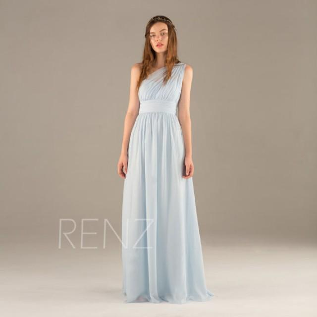 2015 light blue bridesmaid dress long chiffon maxi dress for Light blue dress for wedding