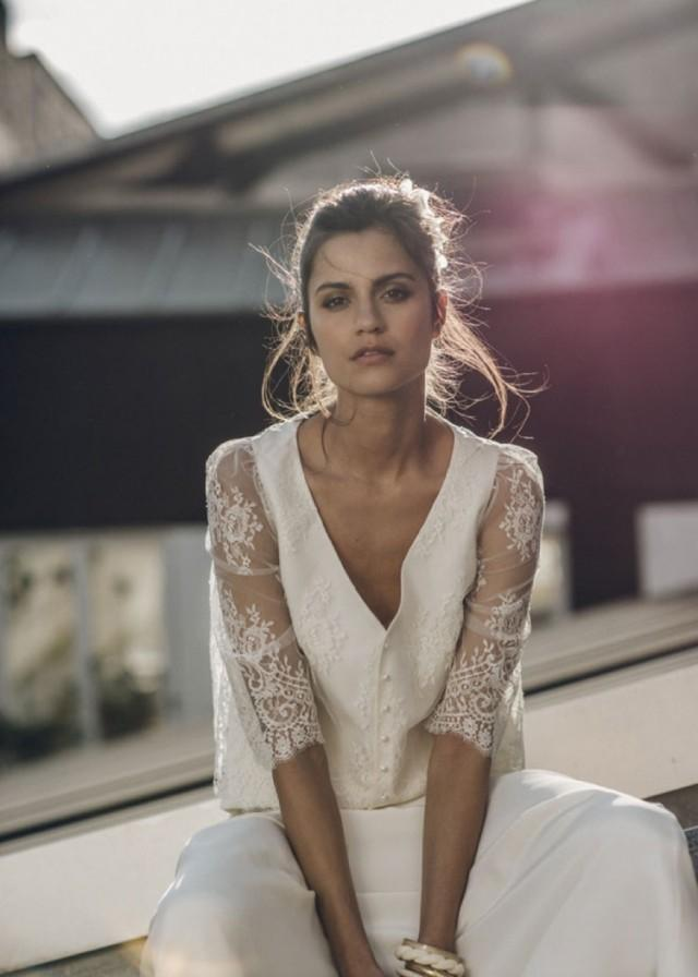 wedding photo - Paris Inspired Wedding Dresses: Laure de Sagazan 2016