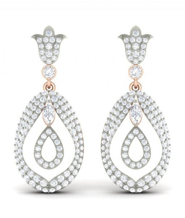 wedding photo - The Trig Diamond Earrings