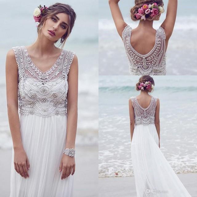 Bohemian custom made anna campbell 2016 wedding dresses for Anna campbell wedding dress for sale