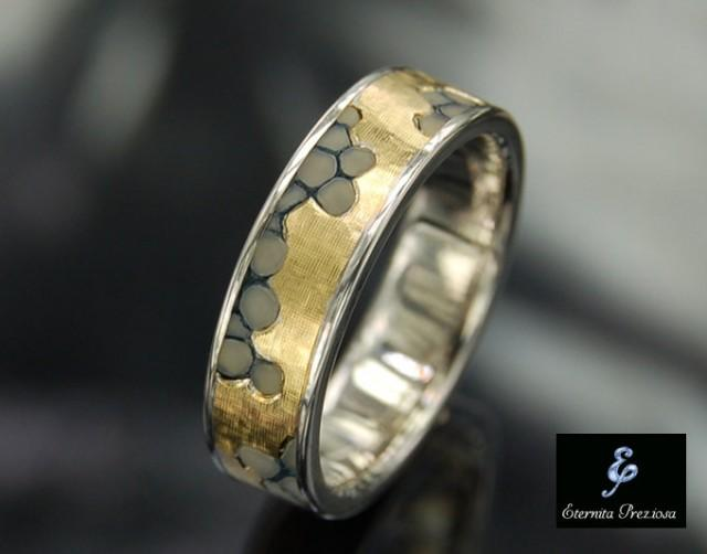Unique wedding engagement ring handmade engagement ring for Cool wedding rings men
