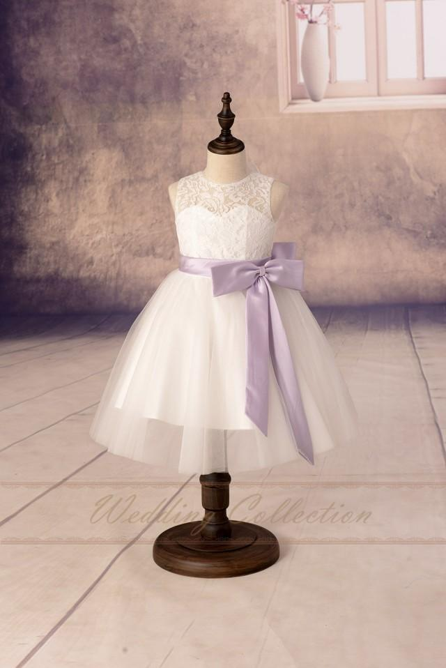 Lace Flower Girl Dresses, Tulle Flower Girls Dress With ...