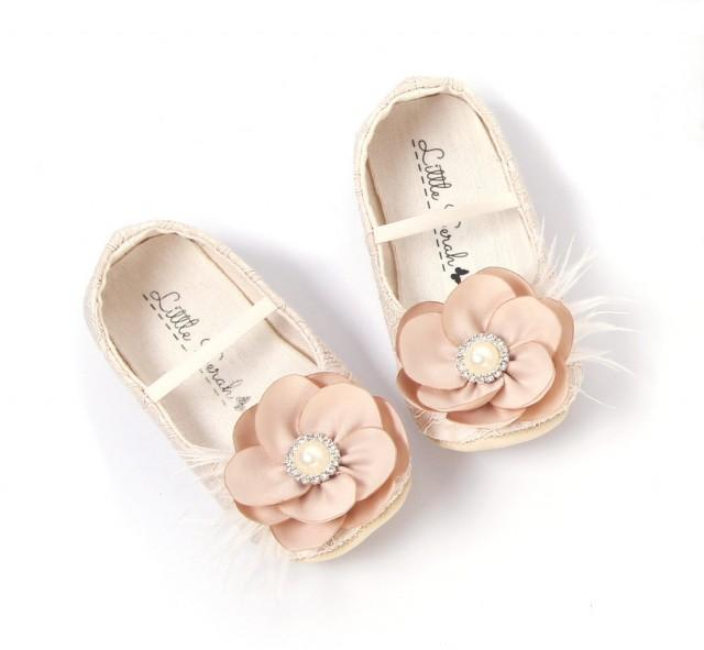 toddler girl shoes baby girl shoes baby shoes wedding shoes flower girl shoes newborn shoe infant shoes nude champagne shoes 2395479 weddbook