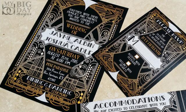 new! the glittering gatsby ball wedding invitations, great gatsby,