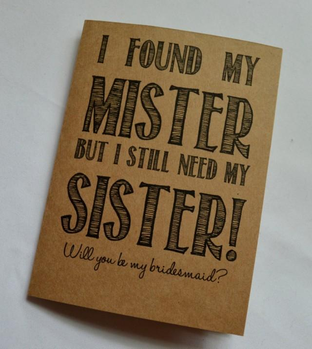 Will You Be MY BRIDESMAID CARD Funny Bridesmaid Card Card I Found My ...