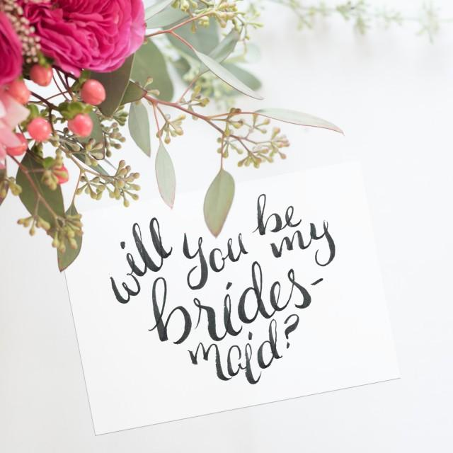 It is a picture of Bewitching Bridesmaid Proposal Printable