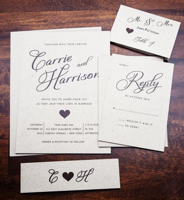 Simple But Elegant Wedding Invitations: Rustic Wedding Invitation, Wedding Invitations, Elegant