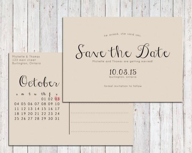 Rustic save the date printable save the date postcard save the date calendar 2399483 weddbook for Save the date printable