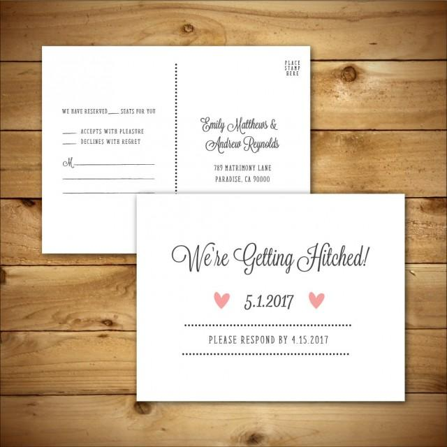 printable wedding rsvp response card template dark grey white instant download. Black Bedroom Furniture Sets. Home Design Ideas