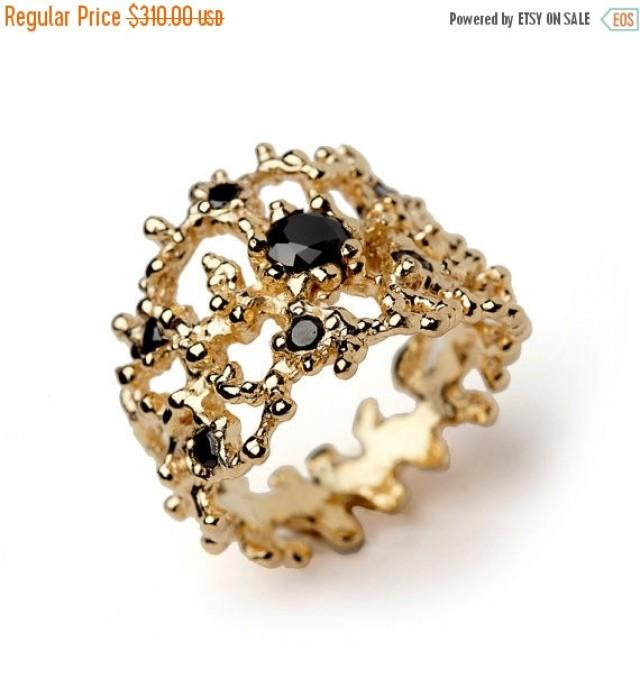 20 sale coral black gemstone ring black and gold