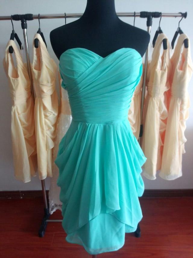 Customized Sweetheart Bridesmaid Dress Short Bridesmaid Dresses Chiffon Dress Wedding Dress Prom