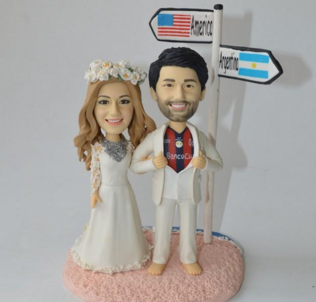 unique wedding cake topper football fans personalized beach wedding toppers 2400688 weddbook. Black Bedroom Furniture Sets. Home Design Ideas