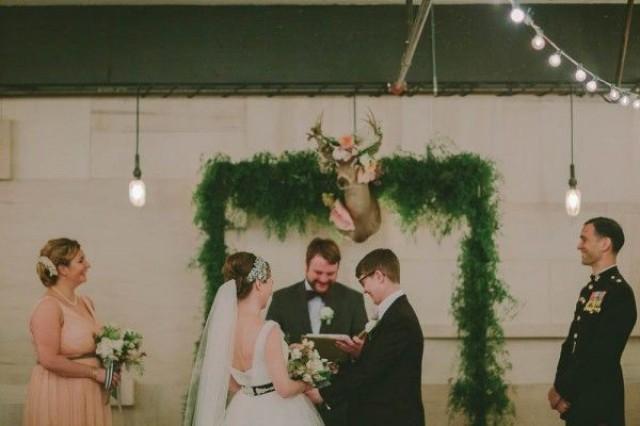 wedding photo - Woodland Warehouse Wedding At Union/Pine