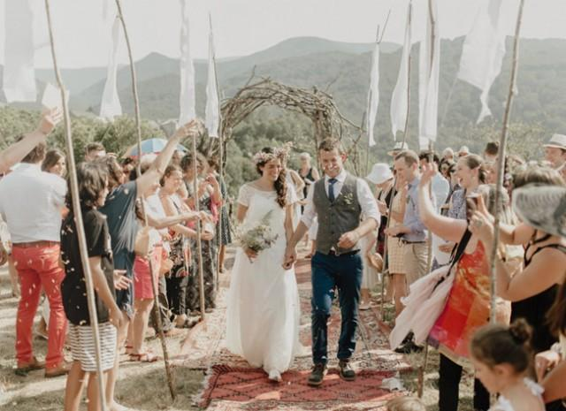 wedding photo - Organic Wedding in the French Pyrenees: Elise + Simon