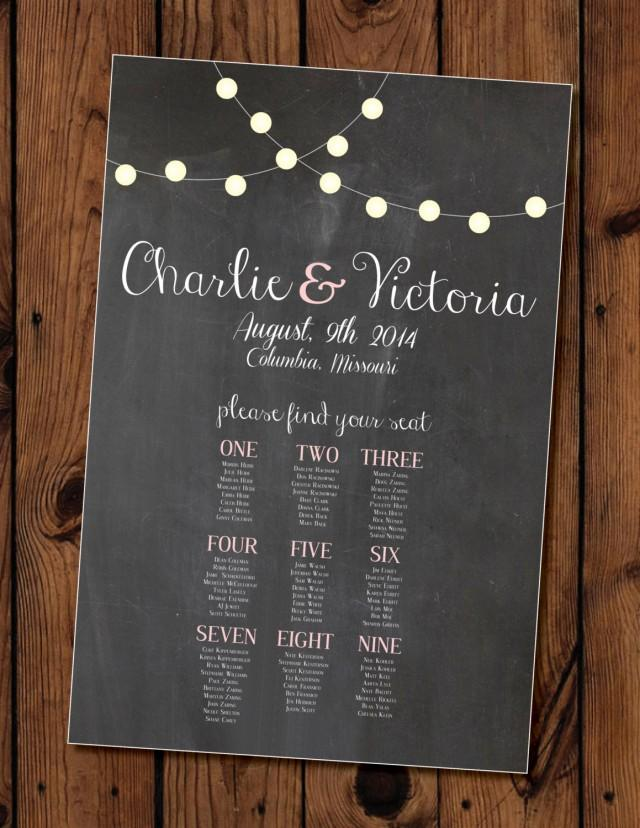 Chalkboard Wedding Seating Chart Printable 2401801 Weddbook