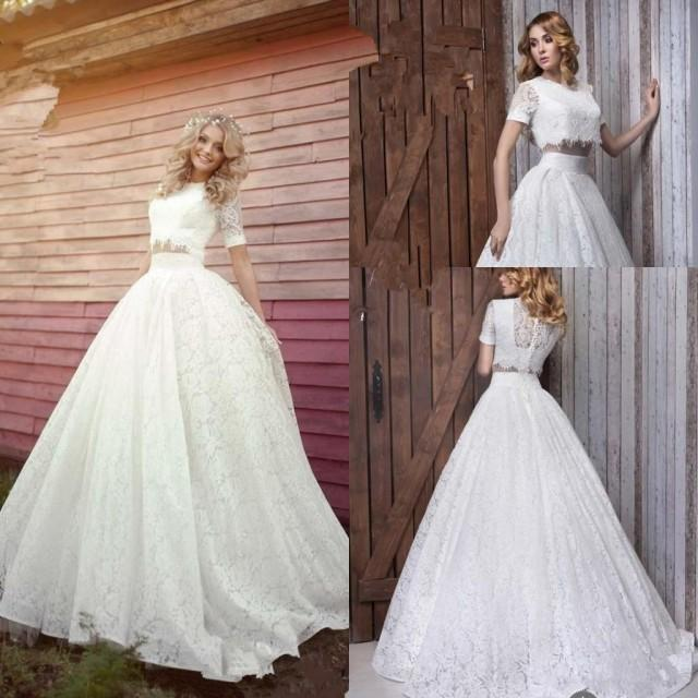 Romantic two pieces 2016 new designer wedding dresses a for Romantic wedding dress designers