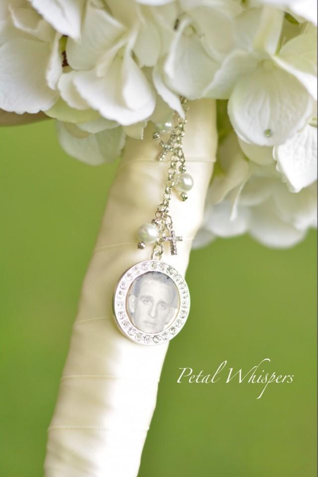 charm bridal bouquet photo pendant wedding bouquet memorial charm
