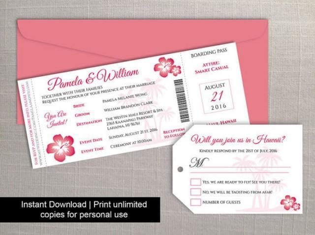Diy printable wedding boarding pass luggage tag template 2402535