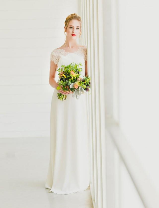 Minimal art inspired wedding ideas weddbook for Wedding dress cleaning austin