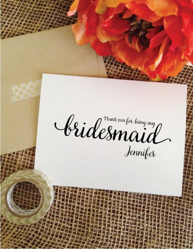 Wedding Thank You Gifts Bridesmaids : Bridesmaid Gift Wedding THANK YOU Card Bridesmaid Card Thank You For ...