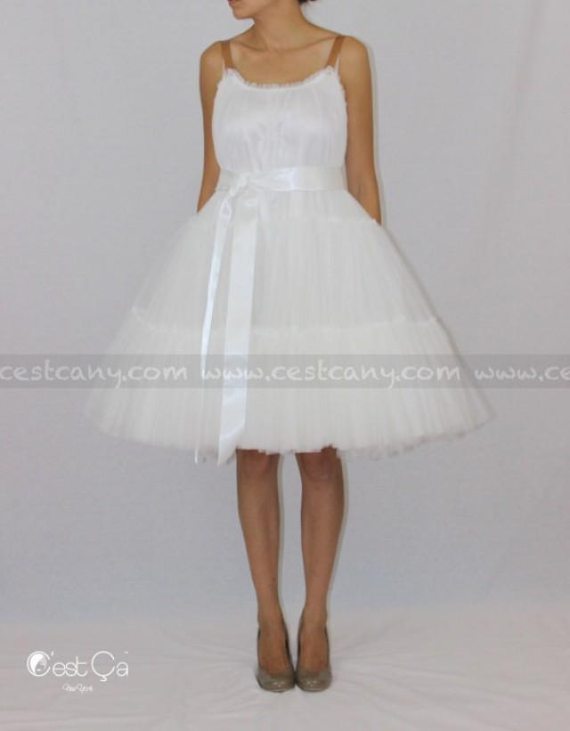 Alexa wedding dress white tulle dress bridal gown for Loose fitting wedding dresses