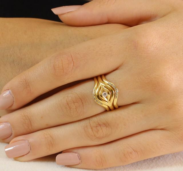 Wide Band Womens Wedding Rings 018 - Wide Band Womens Wedding Rings