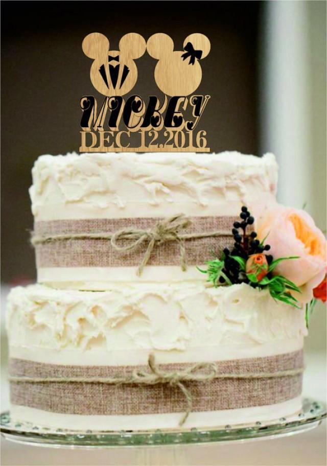 wedding photo - Rustic Cake Topper,Funny Wedding cake topper,Wedding Cake Topper,Personalized Cake Topper,Mickey and Minnie Cake Topper,Bride and Groom