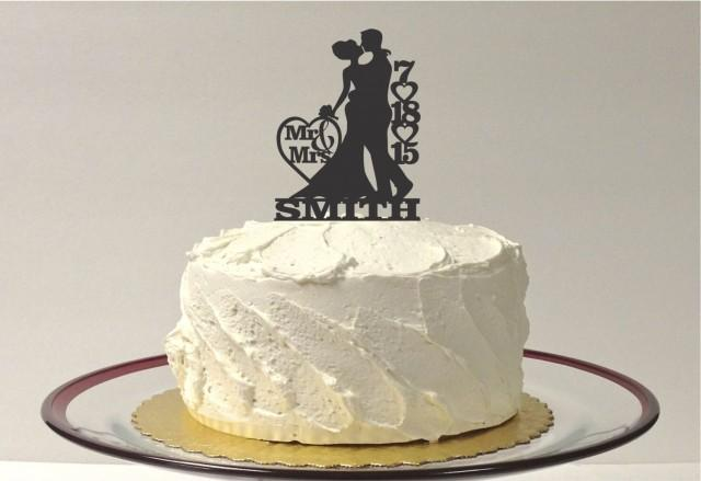Personalized Wedding Cake Topper Personalized With YOUR Family Last Name And Wedding