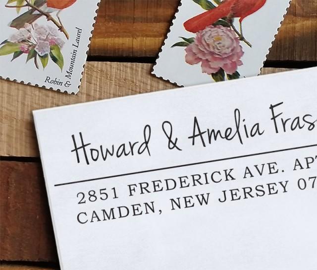 Custom Address Stamp Return Address Stamp Wedding