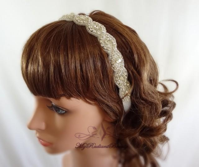 Wedding Hair With Rhinestone Headband : Wedding headpiece headband rhinestone